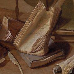 Jan Davidsz de Heem, Nature morte avec livre et globe (detail), 1628, The Kremer Collection, Fondation Aetas Aurea (FAA).