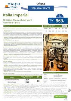 Italia Imperial Semana Santa desde Barcelona**Precio final desde 969** ultimo minuto - http://zocotours.com/italia-imperial-semana-santa-desde-barcelonaprecio-final-desde-969-ultimo-minuto/