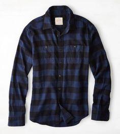 Navy AEO Heritage Flannel