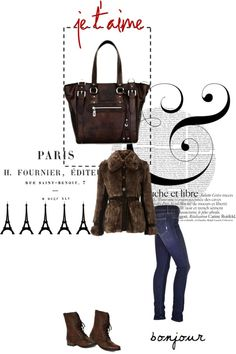"""""""Paris tote at home in...Paris..."""" by ilovehandbags on Polyvore"""