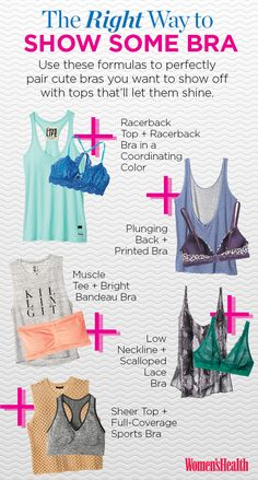 How to Pull Off the Visible Bra Look  http://www.womenshealthmag.com/style/how-to-show-off-some-bra