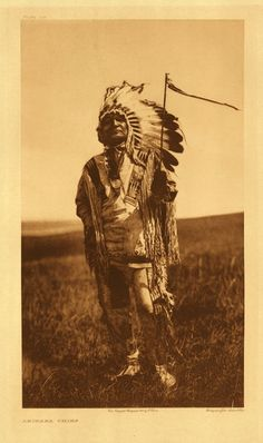 """A Chief of the Arikara Tribe"".  No name, date, or additional information."