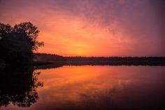 Sundown at the lakes at Brandenburg.