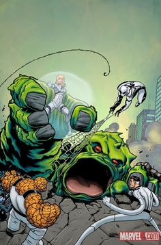 The Future Foundation (after Kirby's Fantastic Four #1), by Ed McGuinness