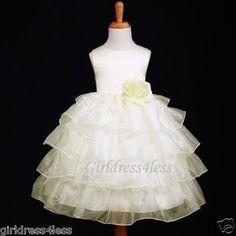 flower-girl wedding dress