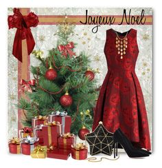 Joyeux Noel! by brendariley-1 on Polyvore featuring polyvore, fashion, style, Chicwish, Gianvito Rossi, Aspinal of London, John Hardy, clothing, Christmas and dress
