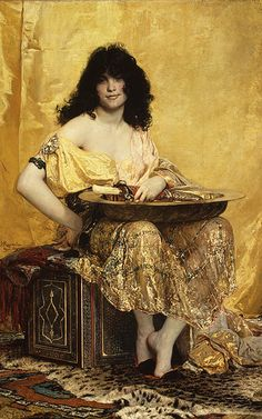 Salomé, 1870 - Henri Regnault (French, 1843–1871). Reagnault was killed in the Franco Prussian War (1870-1871) just months after this painting was first exhibited.