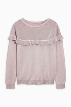 best sneakers dd284 6af14 Blush Ruffle Sweater Next Day, Oversized Jumper, Jumpers For Women, Blush,  Ruffles