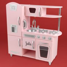 Isn't this just the cutest little kitchen set-up for a little girl! And, personalized with their name! Kitchen Set Up, Little Kitchen, Retro Scooter, How To Show Love, Personalized Products, Sugar And Spice, Toddler Girl, Kitchen Appliances, Collection