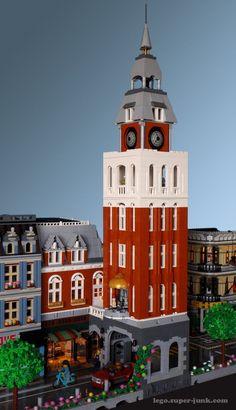Clock Tower Corner Building Lego MOC