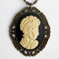 Man's Ruin Cameo Necklace now featured on Fab.