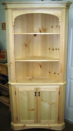 free corner cabinet woodworking plans u2013 YouTube cool wood projects on http://www.cooldiywoodworkingeasyprojects.com