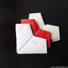 how to fold a heart | dailywaffle