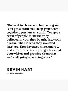 16  | Kevin Hart Quote | 200102 Poster by valourine
