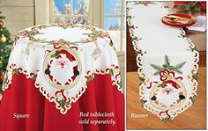 Embroidered Holiday Santa Table Linens Runner Collections Etc http://smile.amazon.com/dp/B015K694P0/ref=cm_sw_r_pi_dp_f1OOwb1DD71Q5