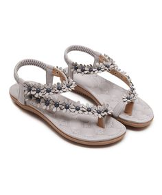 72c1bb0815a9 Another great find on Gray Floral-Strap Sandal - Women