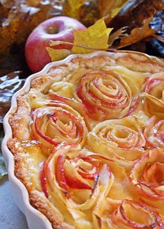 Rosformad äppelpaj ~ How absolutely gorgeous! Cake Cookies, Cupcakes, Grandma Cookies, Yummy Food, Tasty, Delicious Recipes, Cookie Pie, Cakes And More, Apple Pie