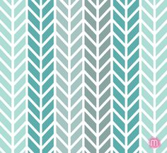 Combo of the week: teal, mint & gray - chevron! See more at www.madisonrosedesign.com