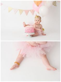 Leesburg Cake Smash   Pink and Gold Cutie » LCE Photography
