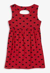 heart print cutout dress forever21 girls