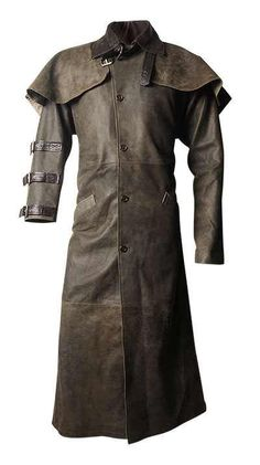 Hell Boy was an action suspense movie. Hell Boy Movie Duster Leather Coat is inspired from this popular movie. This leather jacket comes with the screen accurate detailing. The buckled closure is rightly placed on the collar of the coat Long Leather Coat, Leather Jeans, Leather Jacket, Brown Leather, Real Leather, Mode Steampunk, Steampunk Fashion, Mode Mantel, Duster Jacket