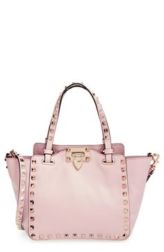 Valentino 'Mini Rockstud' Leather Tote