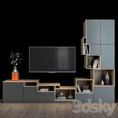 Tv Shelf, Shelves, Wall Tv, Tv Unit Design, 3d Models, Modern Materials, Wood Colors, Tvs, Home