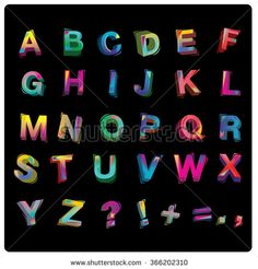 vector of colorful alphabet - stock vector