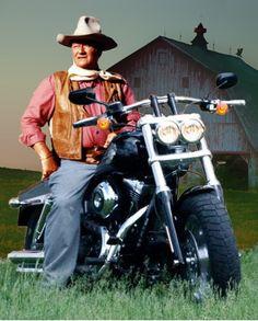 John Wayne on a Harley in Iowa