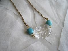 "Love this cute vintage-y necklace...the etsy shop owner calls it ""picnic days"". Yeah, perfect for a picnic."