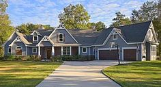 Country Craftsman Traditional Tudor House Plan 98267 Elevation