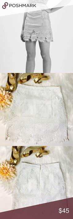 Selling this Topshop Cutwork Flower Lace A-Line Skirt on Poshmark! My username is: onas. #shopmycloset #poshmark #fashion #shopping #style #forsale #Topshop #Dresses & Skirts