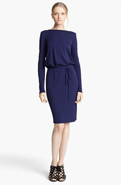 Navy Blue Emilio Pucci Embellished Jersey Dress available at #Nordstrom