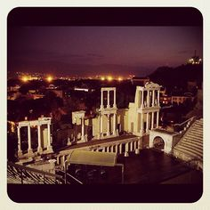 The Ancient theatre of Philippopolis, Plovdiv Bulgaria