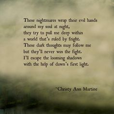 Nightmares poem by Christy Ann Martine