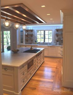 Custom painted kitchen cabinets designed by Hanford Cabinet and Woodworking in Old Saybrook, Connecticut for this transitional style kitchen. Woodworking Kitchen Cabinets, Custom Kitchen Cabinets, Custom Kitchens, Painting Kitchen Cabinets, Kitchen Cabinet Design, Custom Cabinetry, Kitchen Paint, Home Kitchens, Kitchen Decor