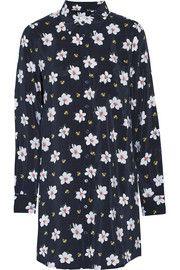 EquipmentBrett floral-print washed-silk dress