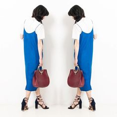 Instagram - Shop Margo #dunelondon #startwiththeshoes #ghillie #navy #heeled #sandals