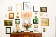 Mixed vintage artwork hanging on a lovely gallery wall English Tudor Homes, Monochromatic Art, Seattle Homes, Tudor Style Homes, Tudor House, House Inside, Building A New Home, Inspired Homes, Wall Decor