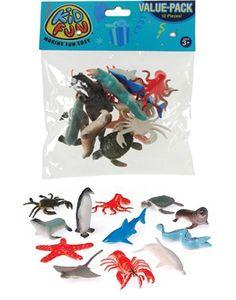 $4.79  Amazon.com: Toy Sea Animals (12 counts): Toys & Games