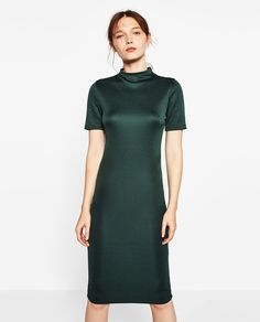FITTED MID-LENGTH DRESS-DRESSES-WOMAN | ZARA United States