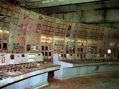 The old control room is shown inside reactor No.4 in the Chernobyl nuclear power plant in this Nov.10, 2000, file photo. This is the location where Soviet engineers flipped a power switch on April 26, 1986 and two explosions followed one after another immediately, sending radioactive clouds though out most of Europe.