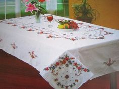 Cross stitch table cloth machine embroidery table cloth different sizes rectangle table cloth free shipping-in Tablecloths from Home & Garden on Aliexpress.com | Alibaba Group