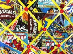 Avengers Superhero Marvel Comic Book Board. $14.00, via Etsy.