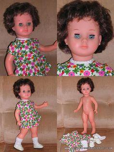 Les Poupees D'autrefois - BELLE poupée de Modes & Travaux des années 70 brune coupe boule en parfait état