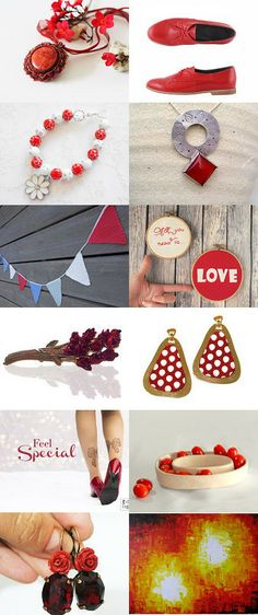 Between red and white beauty by Ayala Adler on Etsy--Pinned with TreasuryPin.com