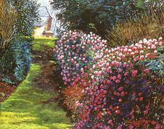 Gardenscape Painting - Spring Flower Fantasy by David Lloyd Glover