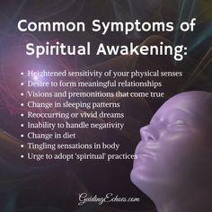 Common Symptoms of Spiritual Awakening Spiritual Awakening Stages, Spiritual Guidance, Spiritual Wisdom, Spiritual Practices, Spiritual Growth, Spiritual Awareness, Spiritual Eyes, Emotional Awareness, Spiritual Power