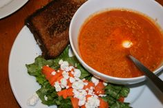 Homemade tomato soup. I love this recipe. It's so quick and easy, and is so much better than canned!