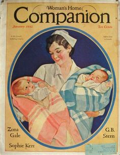 1932 Woman's Home Companion Cover ~ Nurse with Babies, Vintage Magazine Covers